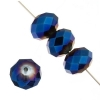 Ori Crystal (Chinese Donut) 4X6mm Metallic Blue